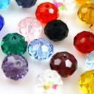 Crystal beads - Faceted Discs 6mm